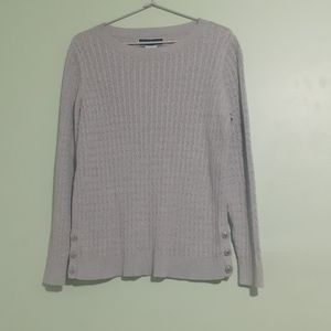Cable Knit Ribbed Knit L/Sleeve Jumper Blouse
